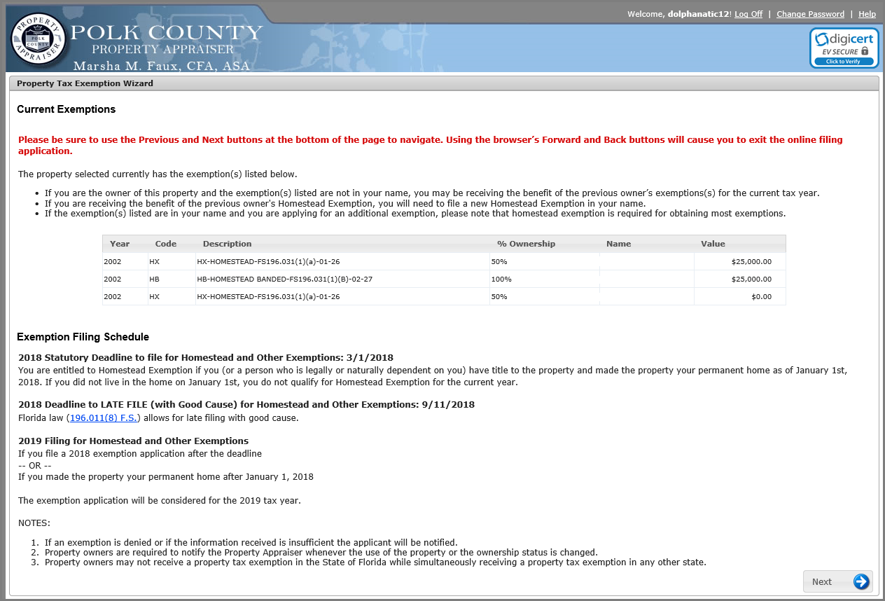 Florida Application For Homestead Exemption